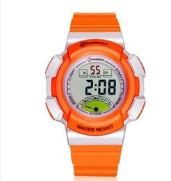 Wholesale Antique Led Watch - orange candy silicone belt waterproof quartz students girl women watch 30mm case sport fashion brand new luxury wristwatch boy men's Watches