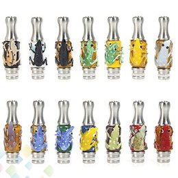 Wholesale Dct Glass - Frog Drip Tip Latest Rana Frog Stainless Steel Drip Tips Glass Frog drip tip EGO 510 Atomizer Mouthpieces For Protank DCT EVOD MT3