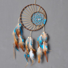 Wholesale Fabric Pendants - Fashion Gift India Dreamcatcher Wind Chimes High Quality Pendant Handmade Dream Catcher With Feather Wall Decoration Ornament