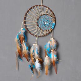 Cadeau De Mode Inde Dreamcatcher Carillons À Vent Haute Qualité Pendentif À La Main Dream Catcher Avec Plume Décoration Murale Ornement ? partir de fabricateur