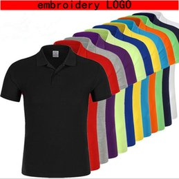 Wholesale Wholesale Contrast Collar Polo Shirt - brand top 2017 classic short sleeve solid cotton polo, stand collar clothing black fashion casual men polo shirt