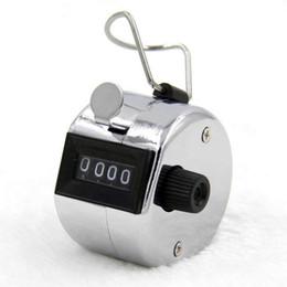 Цифры Нержавеющей Счетчики Профессиональный 4-Значный Ручной Tally Счетчик Ручной Palm Clicker Номер Подсчета Гольф от