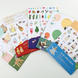 Wholesale planner stickers - Free shipping LY-LB02 decoration self adhensive sticker label cartoon number date for journal design planner notebook deco