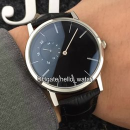 Wholesale Cheap Wood Rounds - Super Clone Luxury Brand Cheap New ALTIPLANO G0A34114 Black Dial Automatic Mens Watch High Quality Gents Watches With Gift Woods Box AAA+