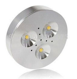 Wholesale Dimmable Led 3x1w - Wholesale- 1PCS Free Shipping Epistar led built-in constant current Dimmable 3x1w led puck light for cabinet warm cool white AC85-265V
