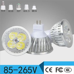 Wholesale Spot Light High Powered 12v - High Power Cree Led Lamp Cups E27 E14 GU10 GU5.3 MR16 3W 4W 5W Dimmable LED Spot Lights LED Bulbs Lighting Aluminum