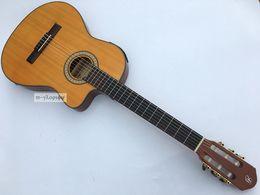Wholesale Electro Guitar - Wholesale- 39inch cut-way thin body Electro classic guitar