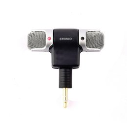 Wholesale Sport Camera Microphone - Mini Stereo Microphone 3.5mm Plug Mic Microphones Adapter Mini Jack for Smart Phone PC Laptop Notebook Sports Camera