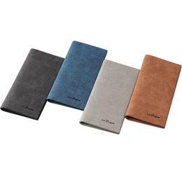 Wholesale Retro Cell Phone Holder - Wholesale- Mens Wallet Fashion Retro Luxury Brand Leather Purse Men Wallets 2016 New Famous Brand Designer High Capacity Long Wallets Slim