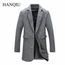 Wholesale Male Trends - Wholesale- Mens Long Trench Coat Men2016 New Fasshion Trend Winter Men Overcoat Solid Trench Coat Male Jacket