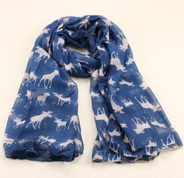 Wholesale Wholesale Velvet Shawls - Wholesale-2015 New Fashion Milu Deer Pattern Velvet Scarf Infinity Scarves For Women Girl Christmas Gift Print Shawl 185*100cm