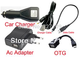 Wholesale Pipo M5 - Wholesale-EU Plug Wall Charger Adapter 5V 2A + DC Car Charger USB Port + Data Cable for Pipo S3 S3 M1 Q88 Max M5 M7 M9 pro 3g