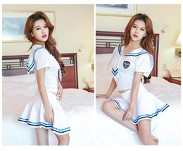 Wholesale Sexy Tie Uniforms - Sexy lingerie stewardess uniforms temptation suits navy nightclub role play Products include: clothes + tie + panties A-7