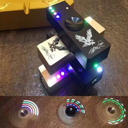 Wholesale Led Flash Lighter - LED Flash Light Alloy Tri-Spinner Hand Spinner USB Cigar Lighter Fidget Toy Finger Gyro