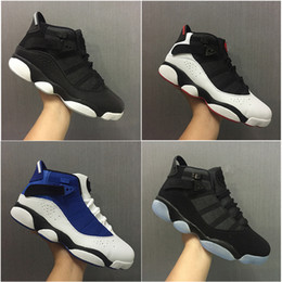 Wholesale Mesh Rings - 2018 Air six 6 rings men basketball shoes French Blue Cool Grey Black Silver Grey Alternate Oreo Chameleon 6s sports shoes