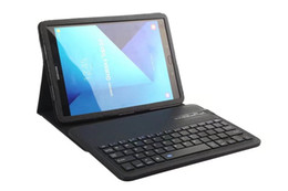 Wholesale Galaxy Tab Wireless Keyboard - For Galaxy tab s3 T820 Leather Stand case and Detachable Wireless Bluetooth Keyboard for Galaxy tab s3 T820 9.7inch tablet PC