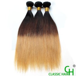 Wholesale 27 Pieces - Grade 8a Virgin Hair Omber Hair Extensions Straight Hair T1b 27 Malaysian Brazilian Indian Peruvian Fast Delivery Factory Price