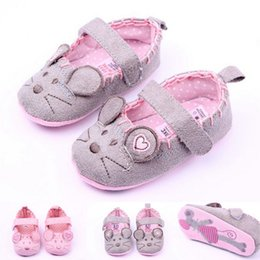 Wholesale Baby Girl Shoes Rubber Soles - Cute Baby Girls Non-Slip Newborn Infant Baby Toddler Soft Sole Princess Shoes