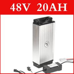 batterie rack arrière Promotion batterie de vélo électrique 48v 20ah lithium batterie arrière au lithium-rack arrière en alliage d'aluminium 48v batterie e-bike 1000w 54.6V