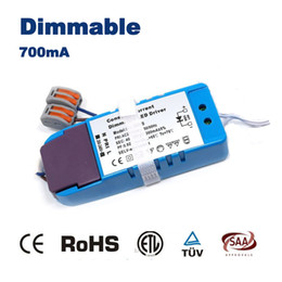 Wholesale Transformer Led 3w - Wholesale- CE RoHS SAA led dimming driver use for 3W led light Dimmable Transformer 3 Watts Driver Adapter 700mA Constant Current