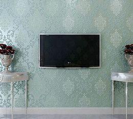 Wholesale Modern Italian Living Rooms - Wholesale-Italian Style Modern 3D Embossed Background Wallpaper For Living Room Silver And Gray Striped Wallpaper Roll Desktop Wallpaper