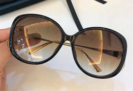 Wholesale Metal Round Plates - The latest style women sunglasses classic plate frame metal mirror legs fashion designer popular eyewear protection glasses top quality 0226