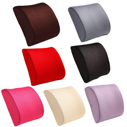 Wholesale Memory Foam Travel Neck Cushion - Memory Foam Breathable Healthcare Lumbar Cushion Back Waist Support Travel Pillow Car Seat Home Office Pillows Relieve Pain