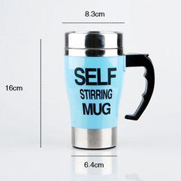Wholesale Mixing Mug - 500Ml Mug Automatic Electric Lazy Self Stirring Mug Automatic Coffee Cup Milk Mixing Self Stirring Coffee Cup Stainless Steel