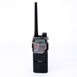 Wholesale Handheld Vhf Ham Radio - BAOFENG UV-5RE8W Ham Radio 8W Power 3800mah Battery Dual-Band VHF UHF FM Two way Radio With Extended Earset and 2 Antennas