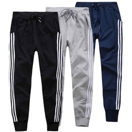 Wholesale Harem Sport Trousers Men - Wholesale-2016 New Mens Joggers Cotton Casual Harem Sweatpants Elastic Sports Pants Trousers Slim Fit Man Tracksuit Bottoms Drawstring