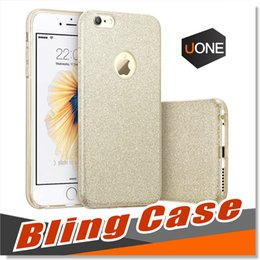 Wholesale Wholesale Silver Bling - For iPhone 7 Plus TPU Case Luxury Protective Hybrid Beauty Bling Cases Crystal Rhinestone Sparkle Glitter Hard Diamond 3 Layer Cases Cover