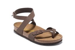 Wholesale Women Wearing Leather - 2017 Hot Sale Summer Men And Women Classic Milano Cork sandals Hard wear Let you walk like a barefoot on a beach size 36-45