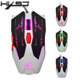 Wholesale Gaming Gear - HXSJ Programmable 6D Adjustable 8 Gear DPI Wired Competitive Gaming Mouse LED Athletics Mice For Pro Gamer Computer PC