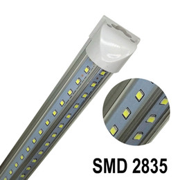 Wholesale Tube Lights Covers - T8 1500mm 32W V-Shaped Led Tube Double Glow 5ft Integration For Cooler Door Lights AC 110-277V Warm Cool White Transparent Cover ce rohs UL
