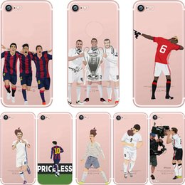Wholesale Wholesalers Football Phone Cases - Sport Star Soccer Football Boy Clear Transparent TPU Phone Case For iPhone 7 6s 6 Plus 5s 5 SE Opp Bag.