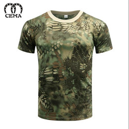 Wholesale Military Tees - Hot 2017 Outdoor Summer Military Camouflage Drier Skin Mesh T-shirt men women Militar Tactical Camping Hiking Short Sleeve tees