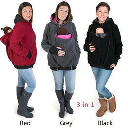 Wholesale Wholesale Jackets Low Price - Lowest price High quality winter fashion Maternity Carrier Baby Holder Jacket long sleeve hoodies free EMS shipping