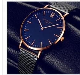 Wholesale Watch Roman Gold - Luxury brand Reloj Mujer steel strip Roman watch quartz watch men's DW ultra-thin ladies watch Montre Femme