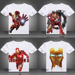 Wholesale Hulk T Shirts - USA Movie The Avengers Cosplay Printed Iron Man Short Sleeve T-shirts Captain America Tops Thor Odinson Tees Hulk Summer Tshirt