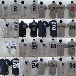 Wholesale Gary Mix - 99 Aaron Judge Jersey Cheap Mens New York Yankees 2 Derek Jeter 24 Gary Sanchez Flex Base Cool Base Baseball Jersey Mix Order