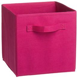 Contenedores de lona de almacenamiento de juguetes online-Box Canvas Storage Bins Textiles para el hogar Canvas Box Libros y juguetes Necesidades diarias Stockp European Textile Products Almacenamiento multifunción