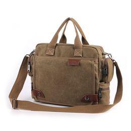 Wholesale Canvas Computer Messenger Bags - Vintage Crossbody Bag Brand Canvas Shoulder Bags Men Messenger Bag Men High Quality Handbag Tote Briefcase