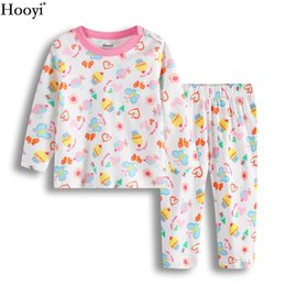 2017 vêtements les plus récents Hooyi plus récent Girl Girl Ensembles de vêtements à la mode Mode Pink Cake Girls Pyjamas Costume Butterfly Infant T-Shirt Trouser Sleepwear 0-2Année vêtements les plus récents sortie