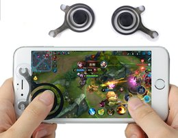 Wholesale Toy Touch Screen Phones - Game Mobile Joystick Phone Mini Game Rocker Touch Screen Joypad Tablet Sucker wireless Game Controller For iPad iPhone cell phone 2pcs Set