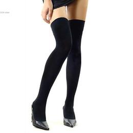 Wholesale Thin Knee High Socks - Wholesale- Hot Sale Fashion Women's Stockings Over The Knee Socks Thigh High Cotton Female Sexy Stockings Thinner meia longa