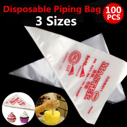 Wholesale Ice Mold Pipe - Wholesale- 100PCS Cake Cream Decorating Disposable Icing Pastry Disposable Piping Bag Mold