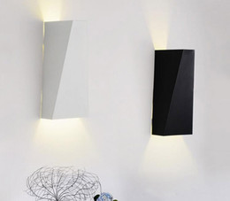 Wholesale Sconces Up Down - 10W LED Modern Wall Light Up Down Wall Lamp Square Spot Light Sconce Lighting with Acrylic lampshade indoor wall light