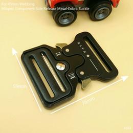 Wholesale Tactical Belt Webbing - 2Pcs Milspec Molle Component Quick Side Release Metal Buckles For 45mm Webbing Bags Clothes Tactical Belts King Cobra