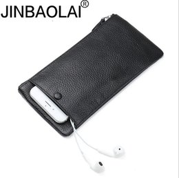 Wholesale Buy Card Holder Wallets - JINBAOLAI fast selling, Japanese and Korean men's wallet men large capacity zipper long mobile real leather wallet welcome to buy