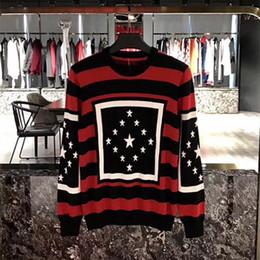 Wholesale Stripe Long Sleeve - 2017 Autumn winter Brand Fashion Stripe pentagram stars printing Sweatshirt men Hoodies Casual Hoodie Male Long sleeve sweater
